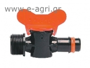 BARBED MINI VALVE WITH SAFETY RING & THREAD NIPPLE