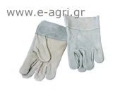 GLOVES GREY LEATHER REINFORCED